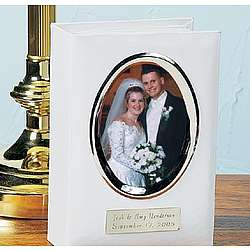 Personalized Wedding Album with Photo Frame