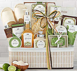 Coconut Lime Spa Experience Gift Basket