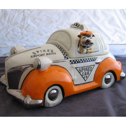 Spike's Cab Taxi Cookie Jar