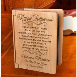 Personalized Happy Retirement Wooden Photo Album