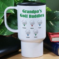 Personalized Golf Buddies Travel Mug