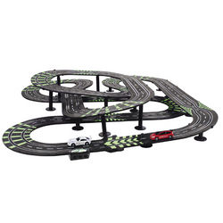 Wind Up Dynamo-Powered Racing Car Track