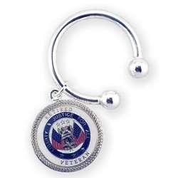 Engraved Retired Veteran Key Chain