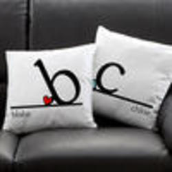 Personalized Heart Felt Throw Pillow