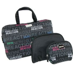 Kenneth Cole Reaction Signature Print 3 Piece Cosmetic Case