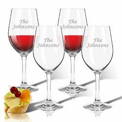 Monogrammed Wine Glasses