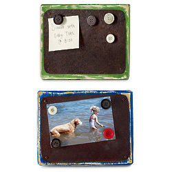 Reclaimed Tin and Wood Magnetic Frames