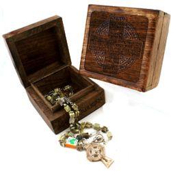 Personalized Irish Blessing Memory Box and Connemara Rosary