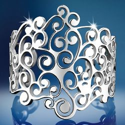 Large Silver-Plated Kells Bangle