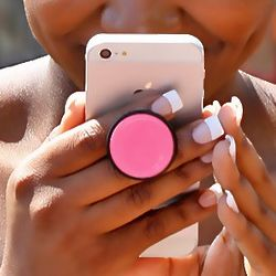 HandAble Phone Holder with Pink Dome