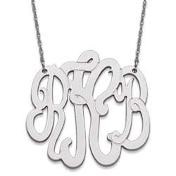 Personalized Sterling Silver 3 Initial Monogram Necklace