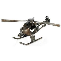 Rustic Helicopter Auto Part Statuette
