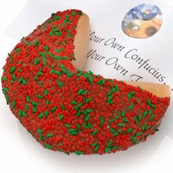 Holly Berries Giant Fortune Cookie