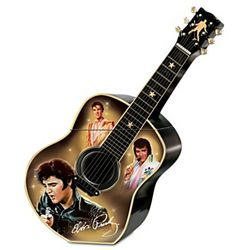 Elvis Presley a Taste of Rock 'n Roll Ceramic Guitar Cookie Jar