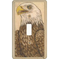 Eagle Wooden Switchplate