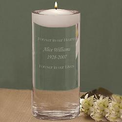 Floating Memorial Candle & Vase
