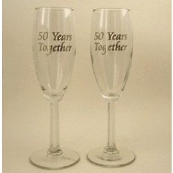 50th Wedding Anniversary Champagne Glasses