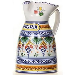 Spanish Majolica Sangria Pitcher