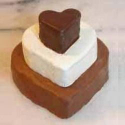 Valentine Fudge Heart Trio