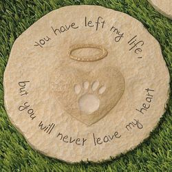 You Will Never Leave My Heart Pet Remembrance Stepping Stone