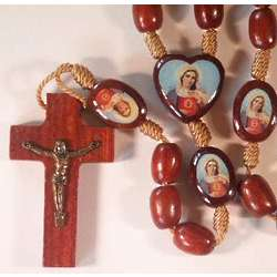 Immaculate Heart of Mary Wood Rosary