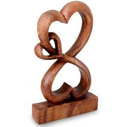 Love Blossoms Wood Sculpture