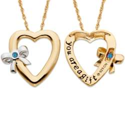Tied to You December Birthstone Heart Necklace