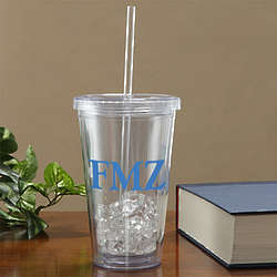 On the Go Personalized Acrylic Tumbler with Initials