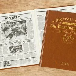 Personalized Washington Post Buffalo Bills Book