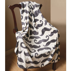 Mustache Throw Blanket