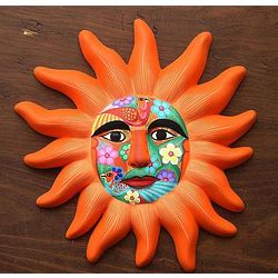Orange Sun Ceramic Mask