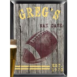 Personalized Traditional Football Man Cave Pub Sign