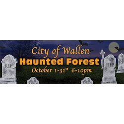Cemetary Tombstones Personalized Vinyl Banner