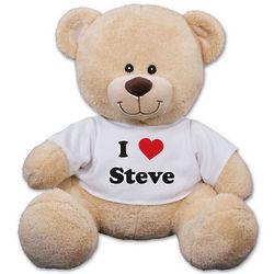 Personalized I Love You Teddy Bear