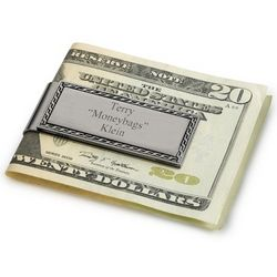 Personalized Chain Link Border Money Clip