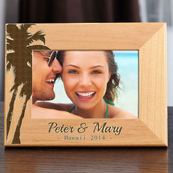 Island Palms Personalized Picture Frame