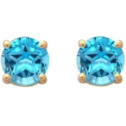 Swiss Blue Topaz Texas Star Stud Earrings