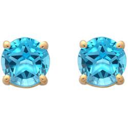 Swiss Blue Topaz Texas Star Stud Earrings