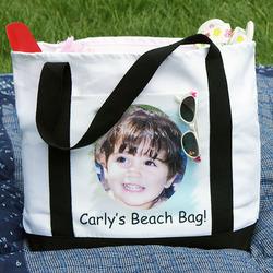 Premium Two-Tone Personalized Photo Tote Bag