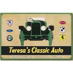 Personalized Vintage Auto Sign