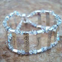 Family Love Ladder Bracelet in Sterling Silver