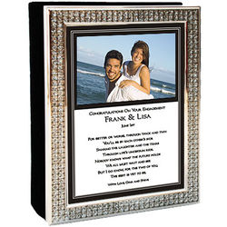 Engagement Photo Album with Personalized Poem Cover