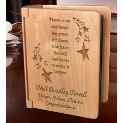 Personalized Make It Happen Wooden Photo Album