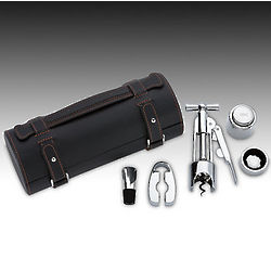 Wine Gift Set with Leather Tube Case