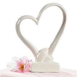 Porcelain Heart Cake Topper