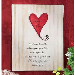 Personalized Unframed Wedding Canvas
