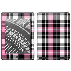 Pink Plaid Decal Skin for Kindle Touch