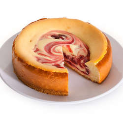6 Inch Strawberry Swirl Cheesecake