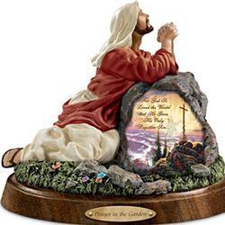 Thomas Kinkade Prayer in the Garden Sculpture