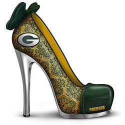 Green Bay Packers High Heel Shoe Figurine